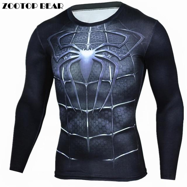 Spiderman T Shirts Men 3D Printed T shirts Compression Fitness ...