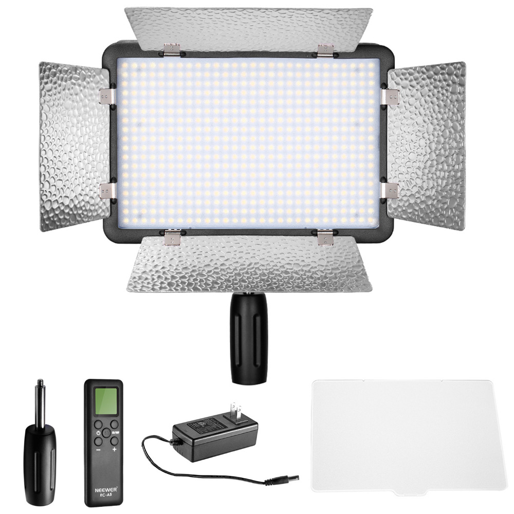 Neewer LED 500 Dimmable Video Light Built-in LCD Panel with Remote Control for Canon/Nikon/Pentax/Panasonic/Sony/Samsung/Olympus
