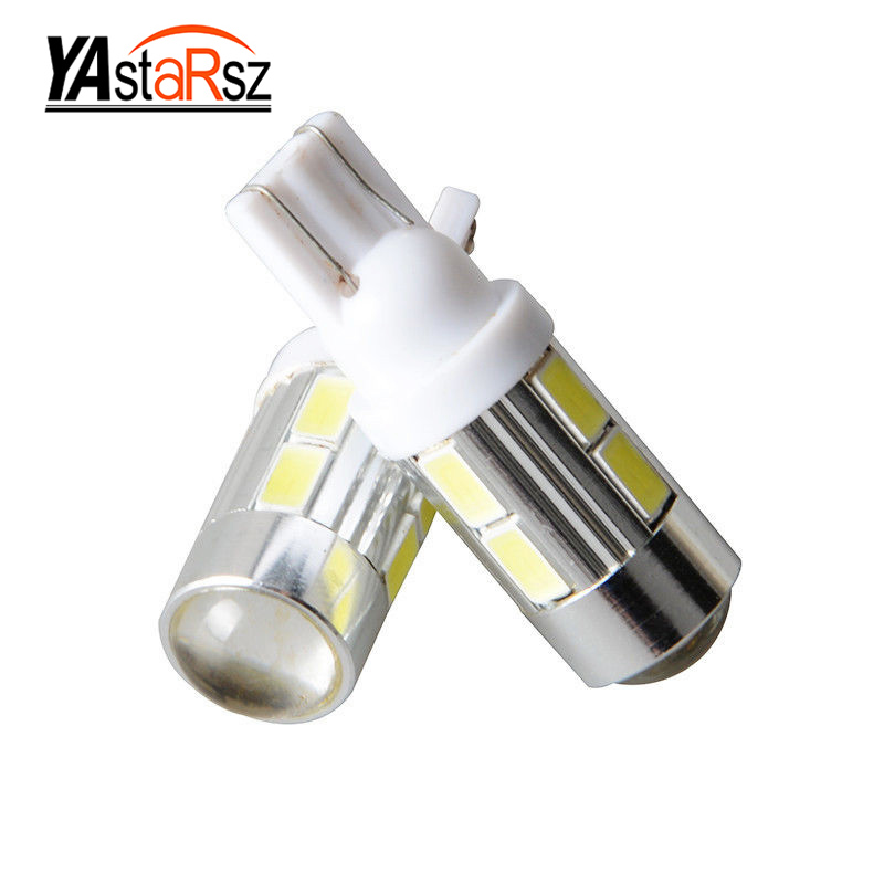 2Pcs 2016 NEWS!Car Auto LED T10 194 W5W no-Canbus 10 smd 5730  LED Light Bulb No error led light Car styling Free shipping 2pcs 12v 31mm 36mm 39mm 41mm canbus led auto festoon light error free interior doom lamp car styling for volvo bmw audi benz