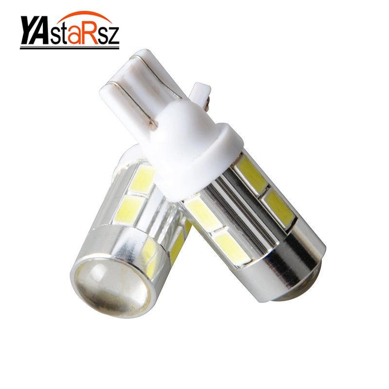 2Pcs 2016 NEWS!Car Auto LED T10 194 W5W no-Canbus 10 smd 5730  LED Light Bulb No error led light Car styling Free shipping