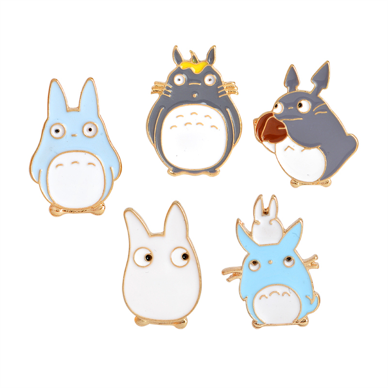 1 Pcs My Neighbor Totoro Series Brooch For Women Men Child Kid Kawaii Pet Animal Brooches Pins Bag Jacket Collar Badge Jewelry