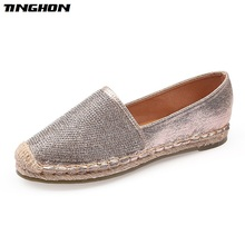 Купить с кэшбэком  Fisherman Shoes Women Flats Casual Round Toe Spring Lazy Loafers Bling Woman Single Sneakers Summer Shoes Brand Female Flats