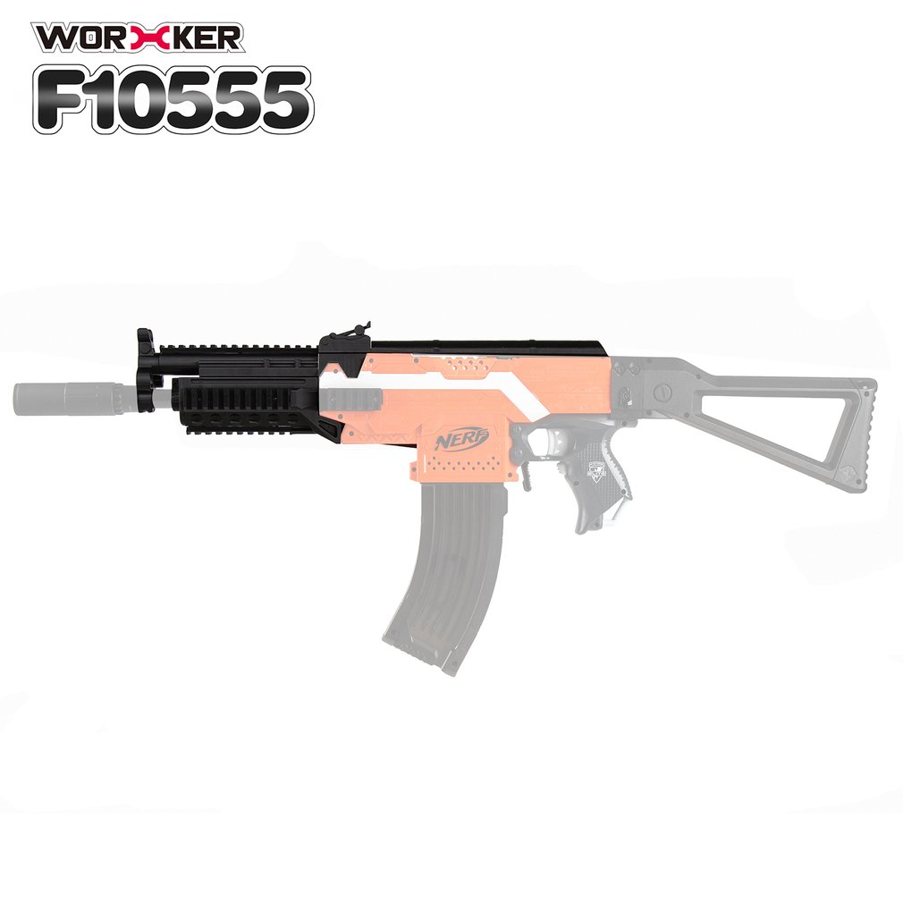 WORKER 3D Printing Modularization NO.105 AK Series Long Type Modified Barrel Kit Gun Toys Suitable for Nerf Stryfe Toys(Type A)