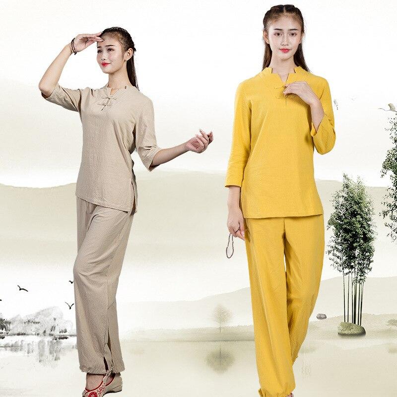 Tai Chi Uniform Cotton 5 Colors High Quality Wushu Kung Fu Clothing Kids Adults Martial Arts Wing Chun Suit Bardagalist Sett