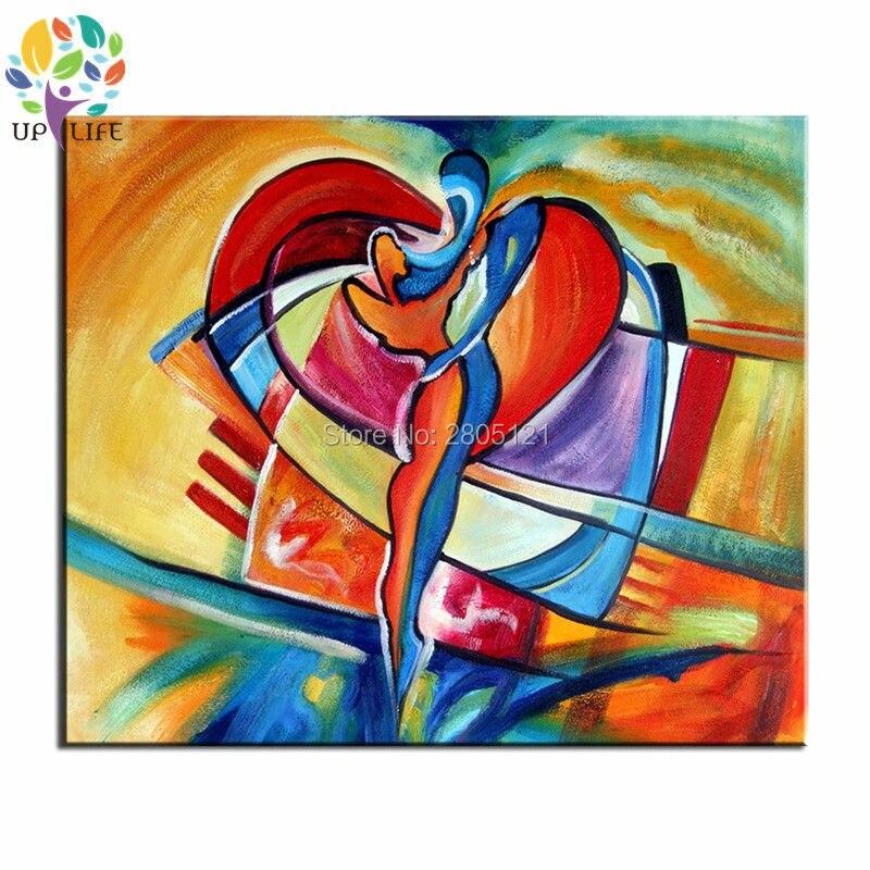 ručně malované levné zbarvení abstraktní olejomalba pár milenců srdce umění plátno obrázek světlé zdi obrázek pro domácí výzdobu
