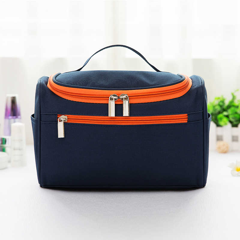 Fashion Hanging Toiletry Bag Polyester Travel Organizer Cosmetic Bag For Women Large Necessaries Make Up Case Wash Makeup Bag