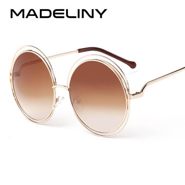 3d746bf65e7 Online Shop MADELINY Newest Fashion Carlina Round Wire-Frame Sunglasses  2016 New Vintage Fashion Sun Glasses Women Brand Designer MA164