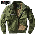 2016 winter thick Bomber Jackets Men Army military Outerwear Jacket mens cotton Air force one Male Coats 4XL,YA151