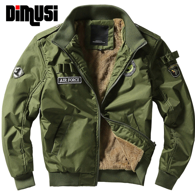 18d3c4dc5b0 DIMUSI Winter Bomber Jackets Mens Army Military Outerwear Jacket Male  Fleece Thick Warm Cotton Air force one Coats 4XL,YA151