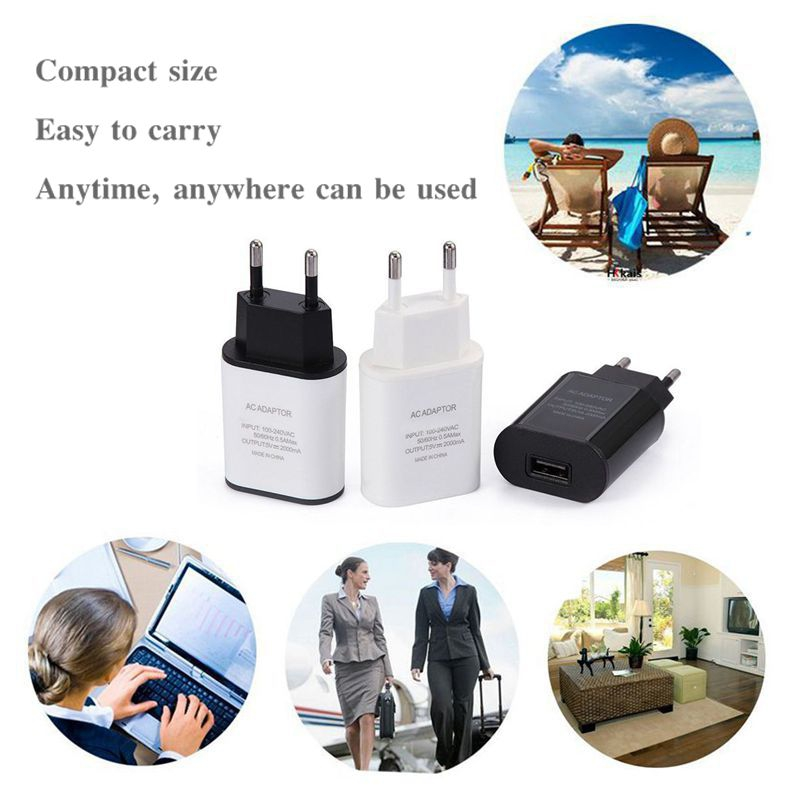 Բարձրորակ 5V 2A EU խրոցը USB արագ - Բջջային հեռախոսի պարագաներ և պահեստամասեր - Լուսանկար 6