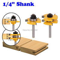 2 Pc 1 4 Shank Tongue Groove Joint Assembly Router Bit Set