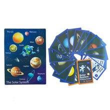 DDWE dziecko wszechświat Solar System gry zabawki edukacyjne angielski karty Flash Mars/MercuryWord nauki Montessori przedszkole karty