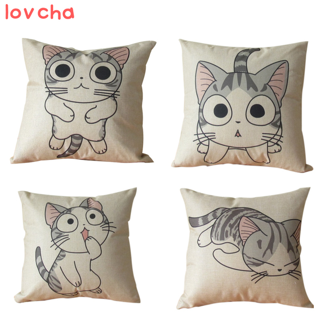 1pcs 45*45cm chi`s sweet home cheese cat pillow of small, private, sweet cat/rice ball stuffed cat pillow cushion for leaning