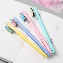 Kawaii School SuppliesPineapple Shape Stationery Pen Cute Pineapple Gel Lapiseira Escolar ZXB008A