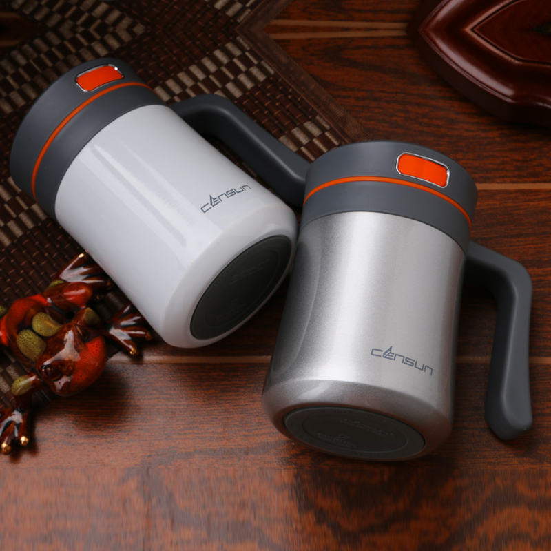400ml Thermos Mug Double Stainless Steel Thermo Vacuum Flask Cup Coffee Mugs Tea With Handle Gentleman Office In Flasks Thermoses