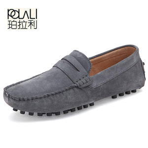 Men Casual Suede Black Leather Moccasins Shoes Male Loafers cc423a1f88