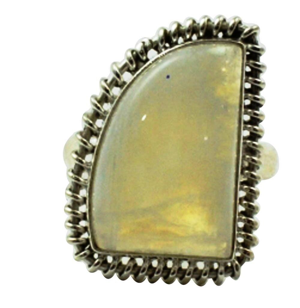 01d1973a4841 Lovegem genuino Arco Iris piedra lunar anillo 925 Plata de ley, tamaño:  9,5, AR3101
