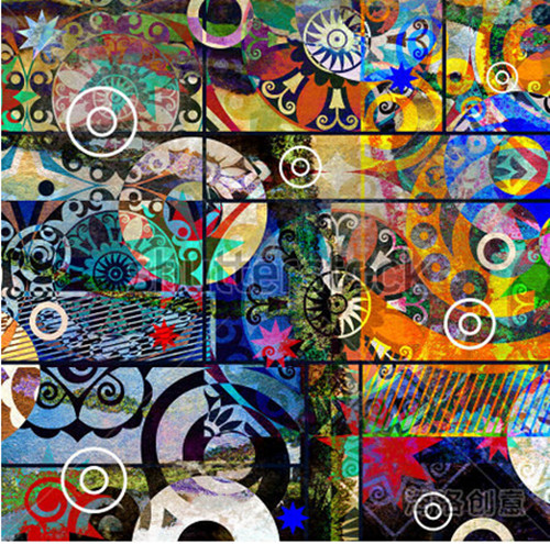 Custom 3D Large Mural,abstract Digital Painting,colorful