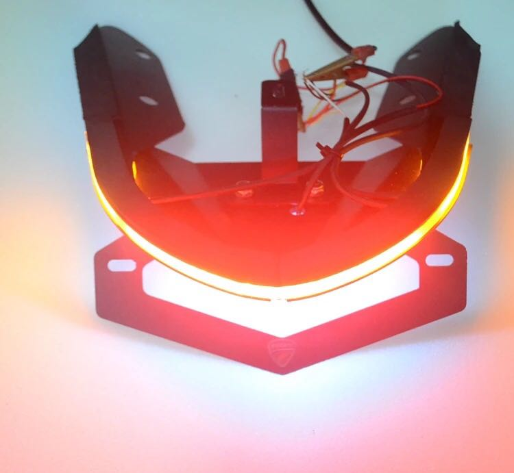 Brake Turn Signal Lights For Ducati Monster 821 Motorcycle Tail Tidy License Plate Light Registration Plate Holder Accessories