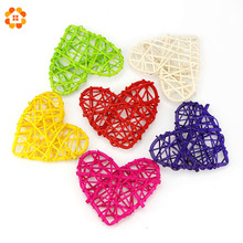 10PCS/Lot 10CM New Arrival Heart Sepak Takraw For Christmas Birthday Party & Home Wedding Party Decoration Rattan Ball 10 Colors