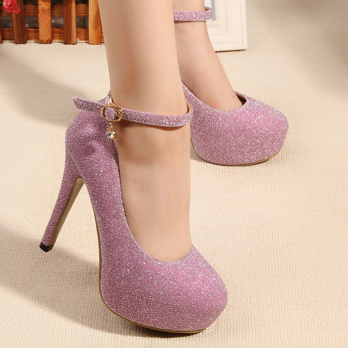 Popular Purple Diamond High Heels-Buy Cheap Purple Diamond High