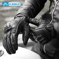 INBIKE Moto da Uomo Guanti Genuino Guanti Da Moto In Pelle Touch Screen MTB Della Bici di Riciclaggio Della Bicicletta Motocross Moto Guanti