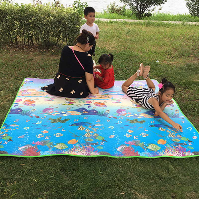 Baby Crawling Puzzle Play Games Mats Infant Home Cushion Children Outdoor Picnic Climb Pad Cartoon Early Education Game Mat
