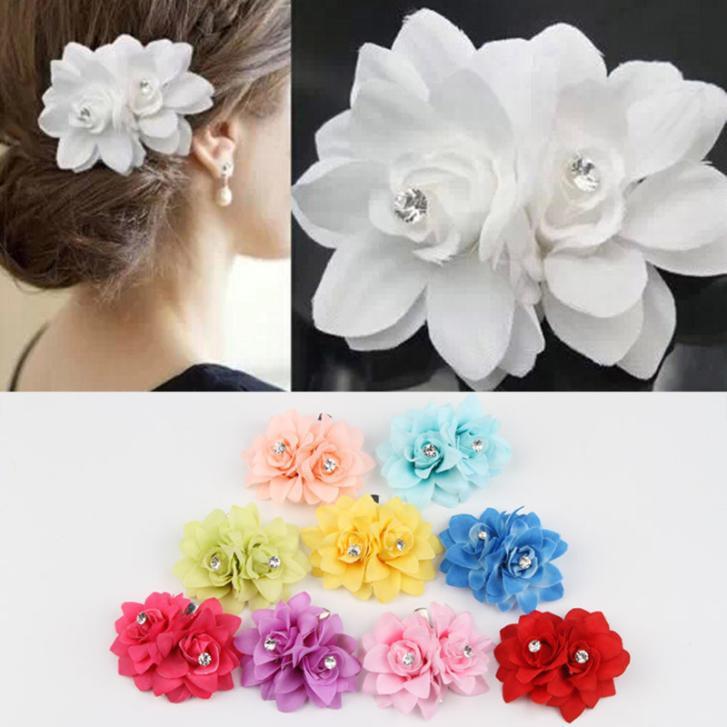 2015Bohemia Style Bridal Flower Orchid Hair Clip B...