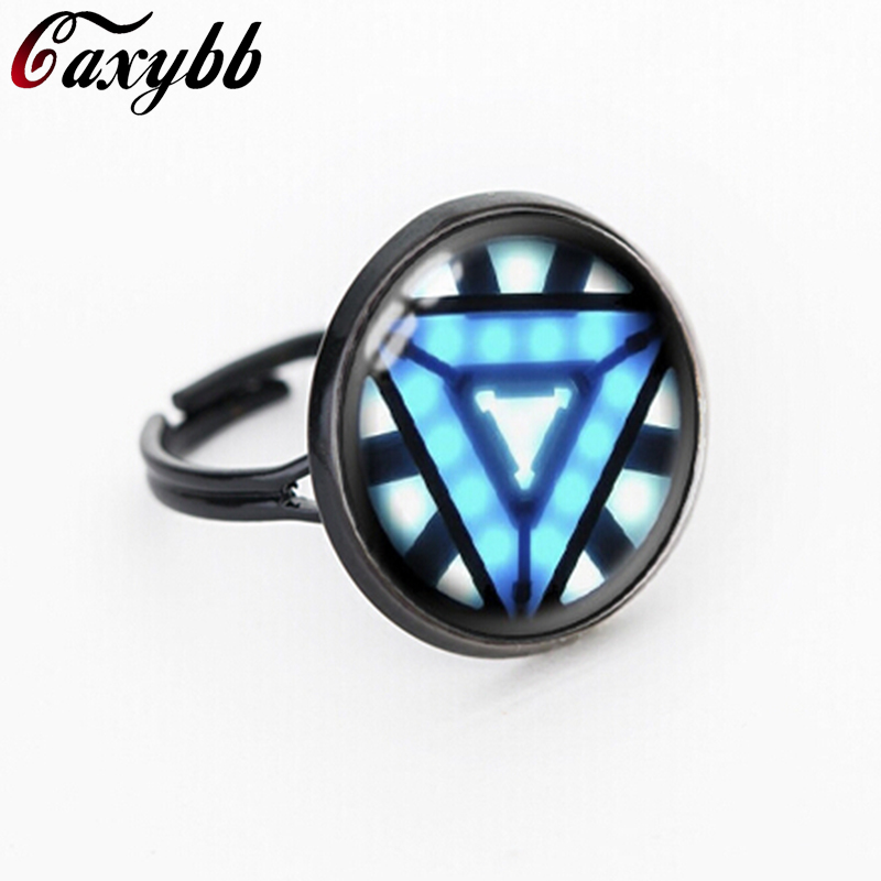 Iron Man Arc Reactor Pendant Glass round Dome movie jewelry for
