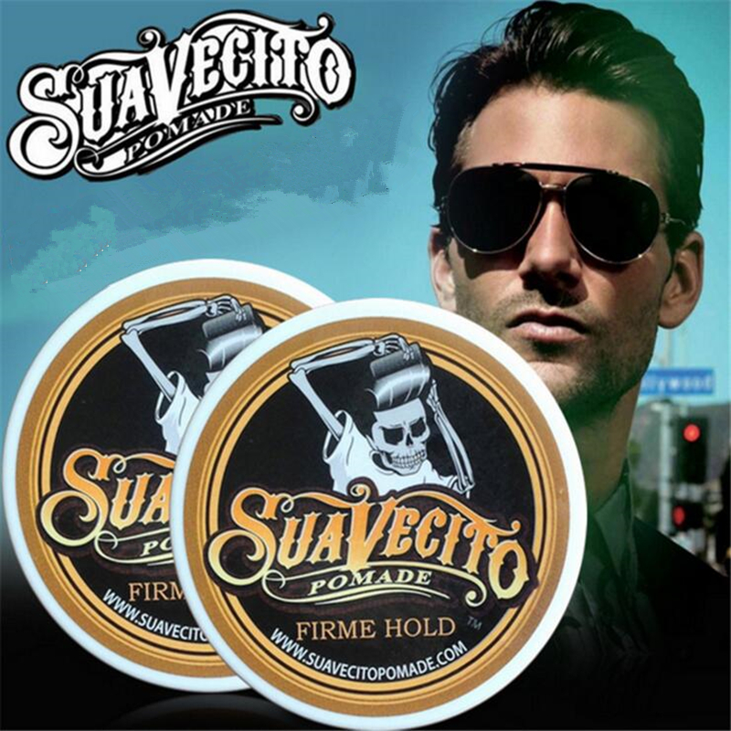 Suavecito pomade Hair wax skeleton hair slicked pomade strong style restoring hair oil wax mud keep hair pomade for men #719 Воск