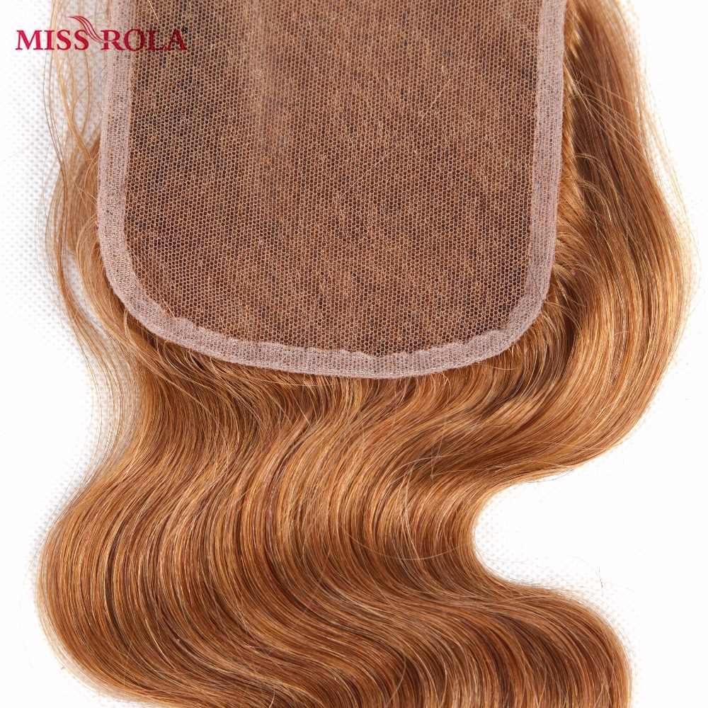 Miss Rola Haar Braziliaanse Body Wave 100% Menselijk Haar Weven 3 Bundels Met 4*4 Sluiting #30 Kleur ombre Bundels met Sluiting