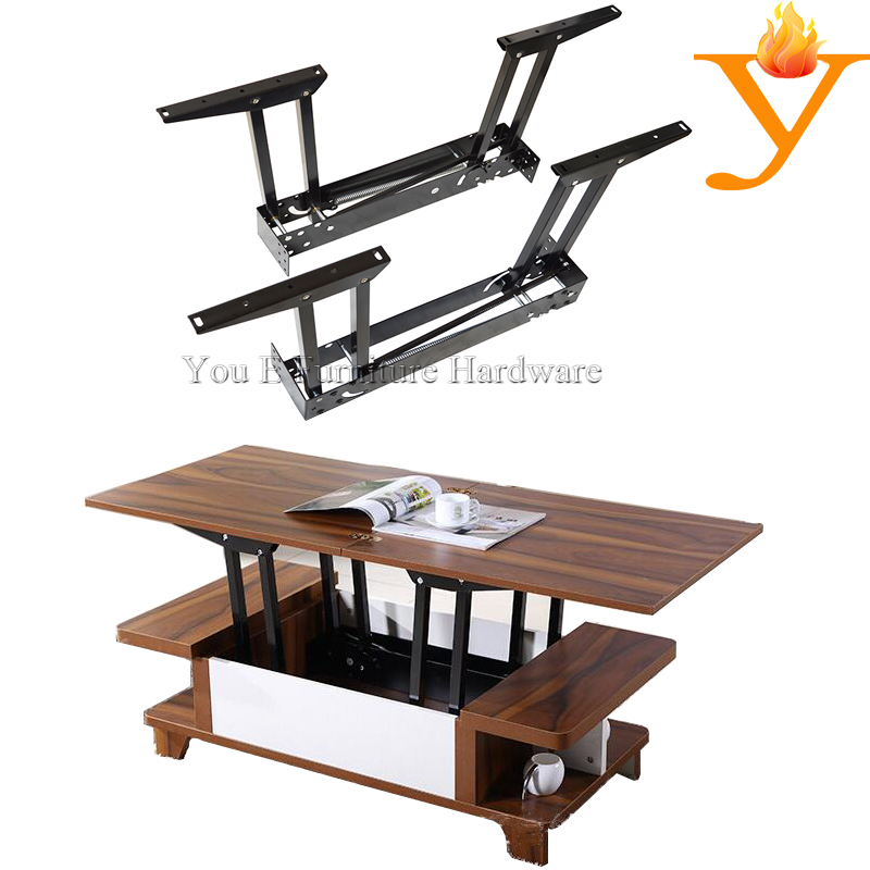 lift up furniture hardware coffee table mechanism with spring b09 in cabinet hinges from home. Black Bedroom Furniture Sets. Home Design Ideas