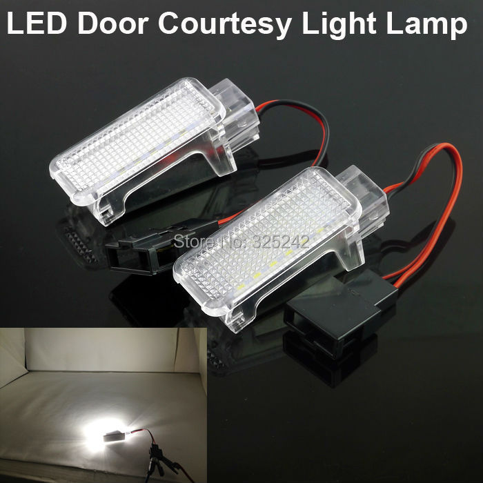 For Audi A1 A2 A3 A4 A5 A6 A7 A8 Q3 Q5 Q7 RS3 RS4 RS5 RS6 R8 TT,No OBC error Excellent Ultrabright LED Door Courtesy Light Lamp