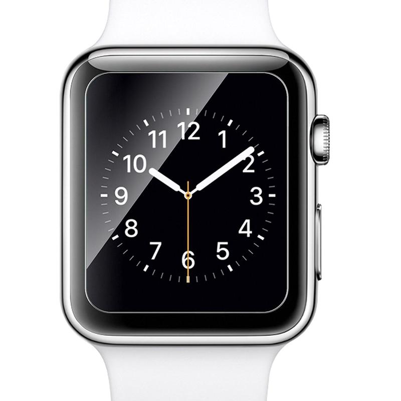 imágenes para 10 unids/lote para 38mm 42mm apple watch película 0.3mm 9 h 2.5d vidrio templado protector de pantalla anti roto la película con el paquete al por menor