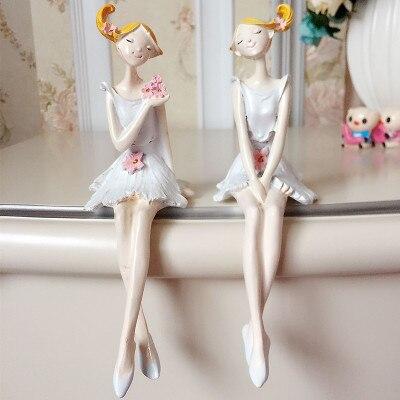 2 pieces a set christmas decoration home ornaments for Home decor reindeer christmas figurine set