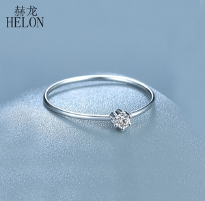 Image 4 - Sterling Silver 925 VVS/HG Moissanite Rings For Women Solitaire Engagement Wedding Trendy Fine Jewelry Elegant unique Gift Ring
