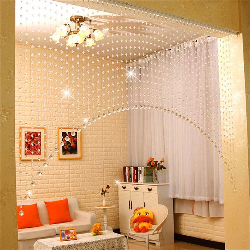 A set of Arch Shape Acrylic Crystal Beads Curtain Window Door ...