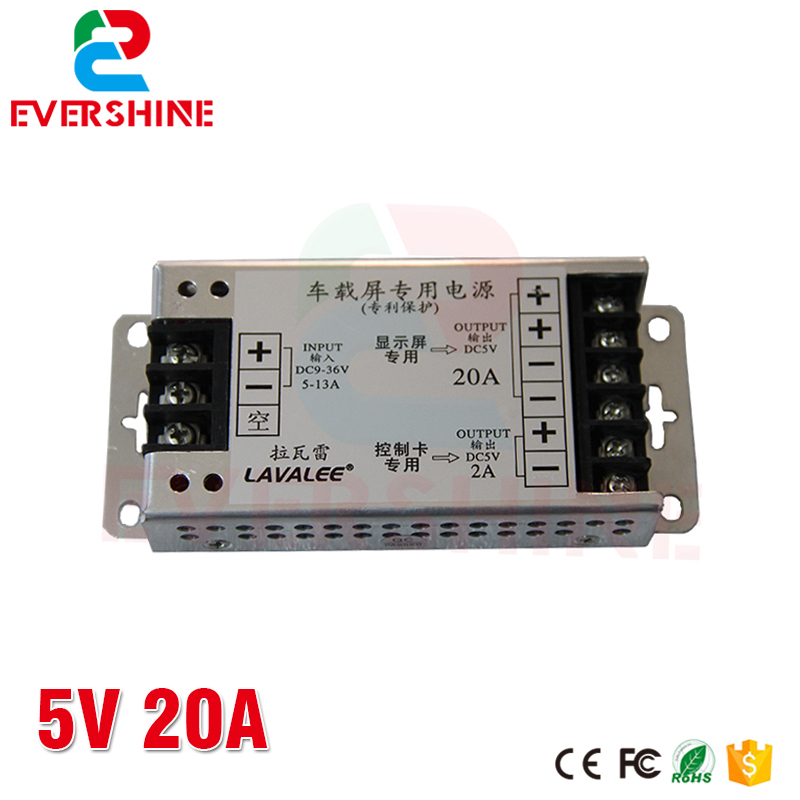 LAVALEE Input DC9-36V Output 5V 20A 30A 40A 60A Power Supply for Taxi <font><b>LED</b></font> Display image