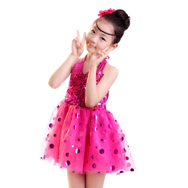 Fashion clothes kids latin dance costumes , Children clothing girl dance performance, children Tutu stage Latest skirt Tulle