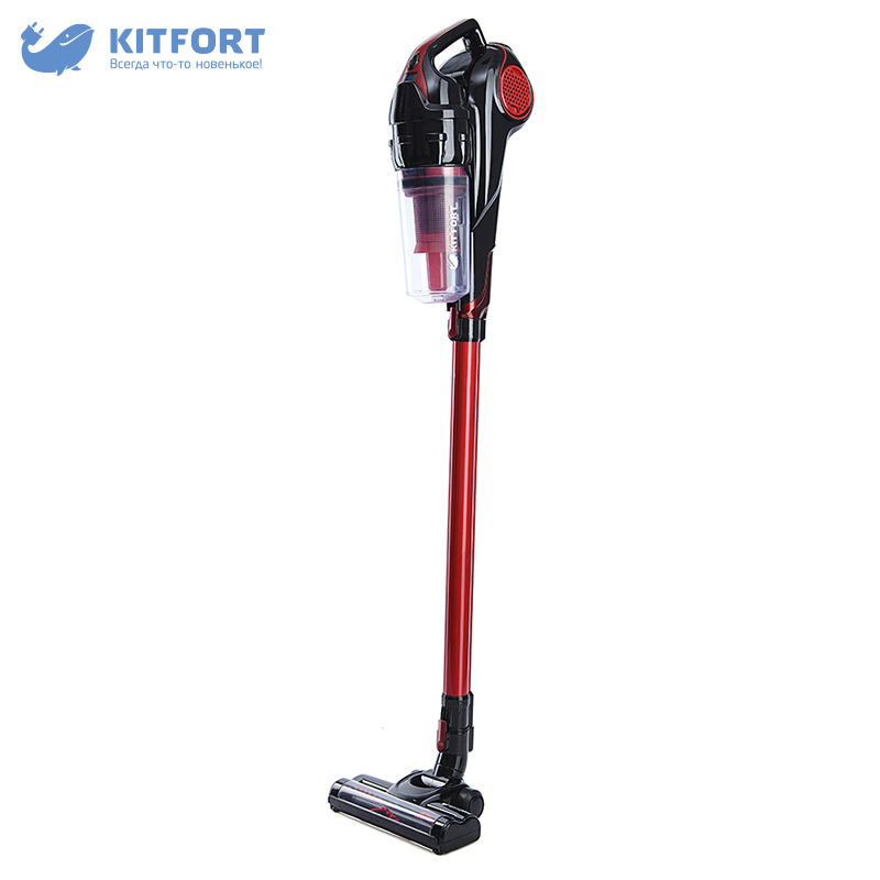 Vertical vacuum cleaner Kitfort KT-517 dustcontainer wireless vacuum cleaner kitfort kt 515 home portable powerful handheld dust collector stick wireless vertical dry cleaning cyclone
