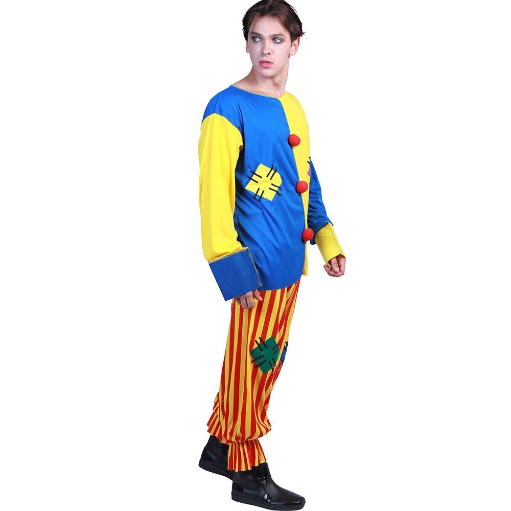 Big Top Clown Plus Size Adult Halloween Costume XL Men Women Top Pants Collar