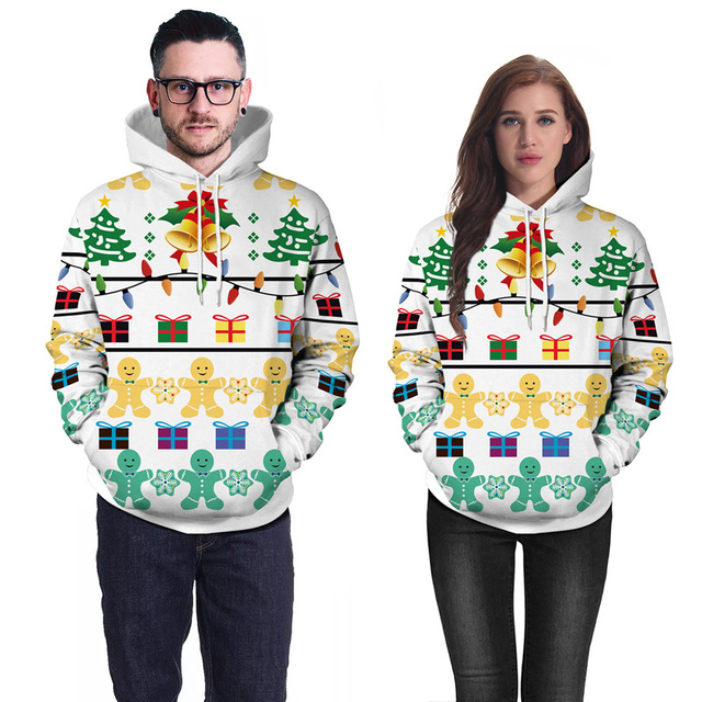 Creative White Hoodies Men Women 3D Christmas Tree Print Male Hoodie  Sweatshirt Colorful Loose Hoody Sweat Homme Hip Hop Tops 146f2978083d