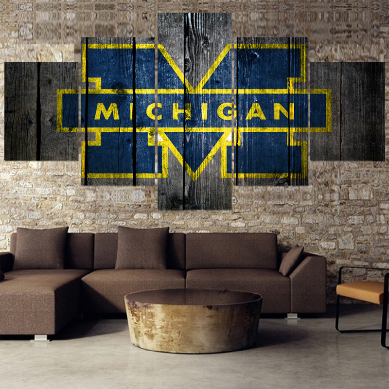 Incredible Us 6 16 23 Off University Rugby Michigan Wolverines Paintings Modern Home Decor Living Room Bedroom Wall Art Canvas Print Painting Calligraphy In Gmtry Best Dining Table And Chair Ideas Images Gmtryco
