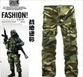 Envío Gratis 2 Colores 9 Tamaños de los hombres militares pantalones multi-bolsillo de camuflaje pantalones de los hombres pantalones cargo del ejército