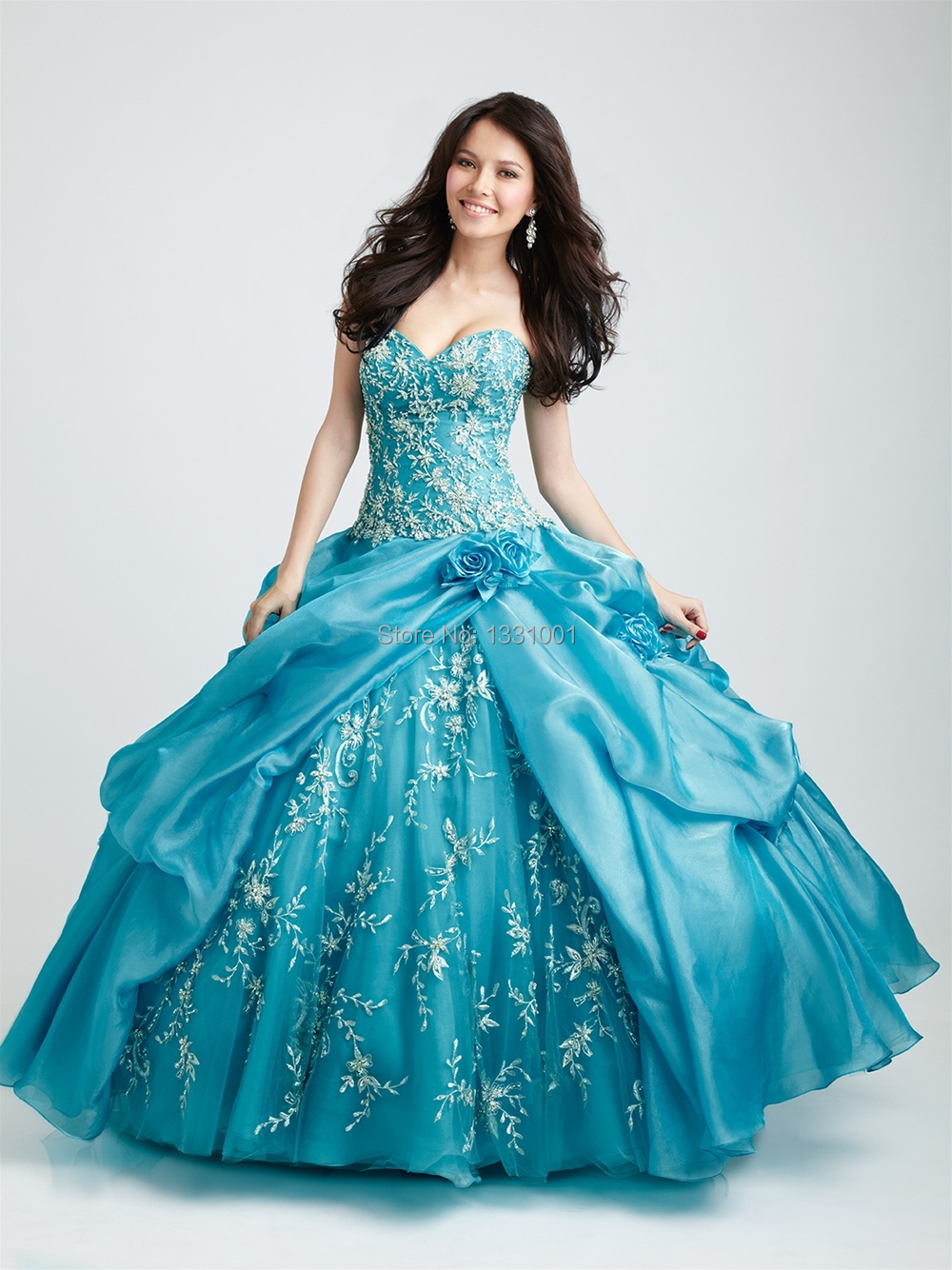 Sweet 16 Quinceanera Dresses Turquoise Sexy Masquerade Ball Gowns ...