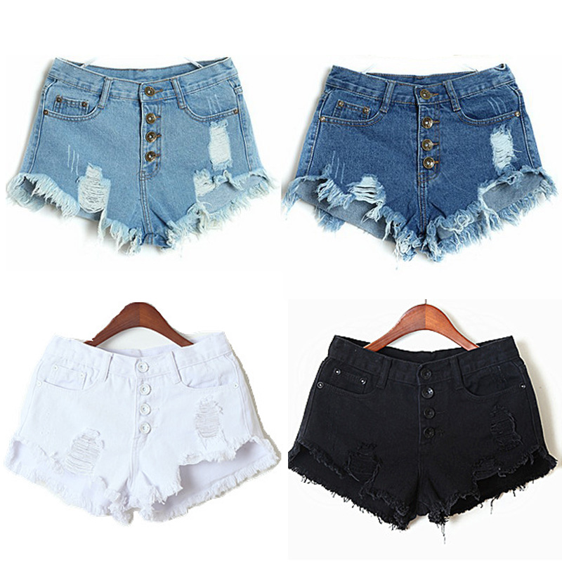Online Buy Wholesale white jeans shorts from China white jeans