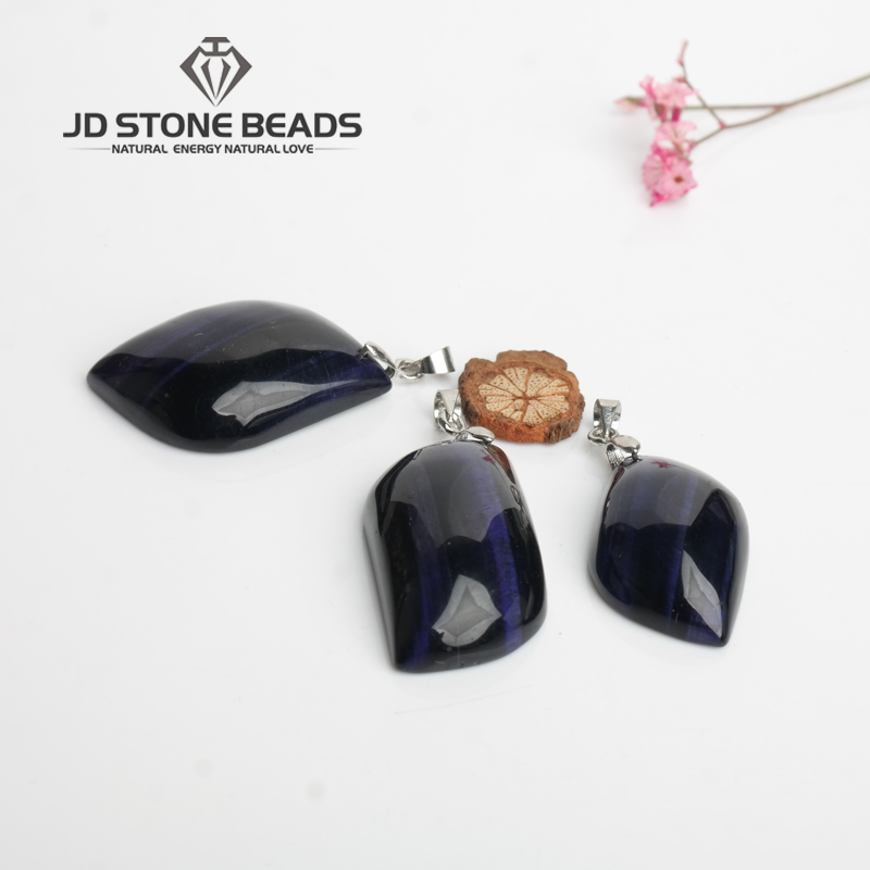 Free Shipping Purple Tiger Eyes Stone Geometric Shape Pendant Personalized Fashion Hand-made Fine Jewelry Ornament