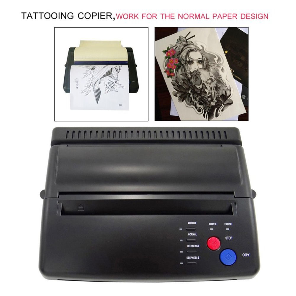Professional Tattoo Stencil Paper Maker Transfer Machine Flash Thermal Copier Printer Tattooing Supplies US Plug hot black tattoo thermal stencil paper maker transfer copier printer machine ws d200 for beginner tattoo kits supplies page 4