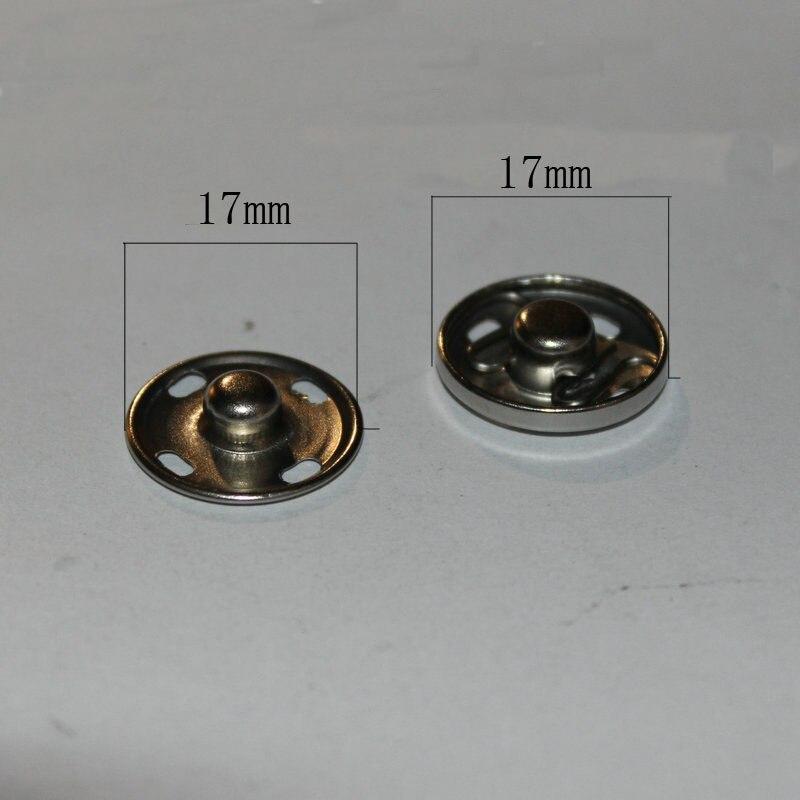 Металл Скрытая-блокировка кнопки для пряжки защелки кнопки нажмите шпильки 17 мм * 17mm100set