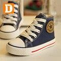 Brand Classic Estrella Niños Zapatos de Los Niños Zapatos de Lona Nuevo 2017 Niño Con Cremallera con cordones de Goma Silmpe Sólidas Botas de Niñas Zapatillas de chicos